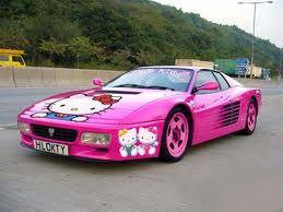 Hello kitty carHello Kitty Cars, Sports Cars, Funny Pics, Pink Cars, Pinkcars, Ferrari, Future Cars, Hellokitty, Dreams Cars