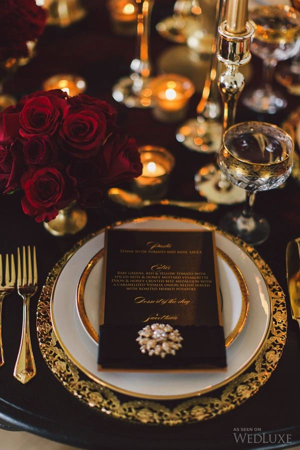 Ausgezeichnet Black And Gold Wedding Reception Fotos Brautkleider