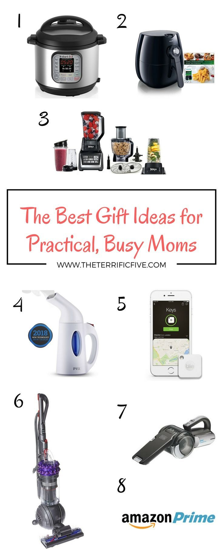 The Best Gift Ideas for Practical, Busy Moms | Christmas Gift for Mom | Valentine's Gift for Mom | Ultimate Gift Guide for Mom | www.theterrificfive.com