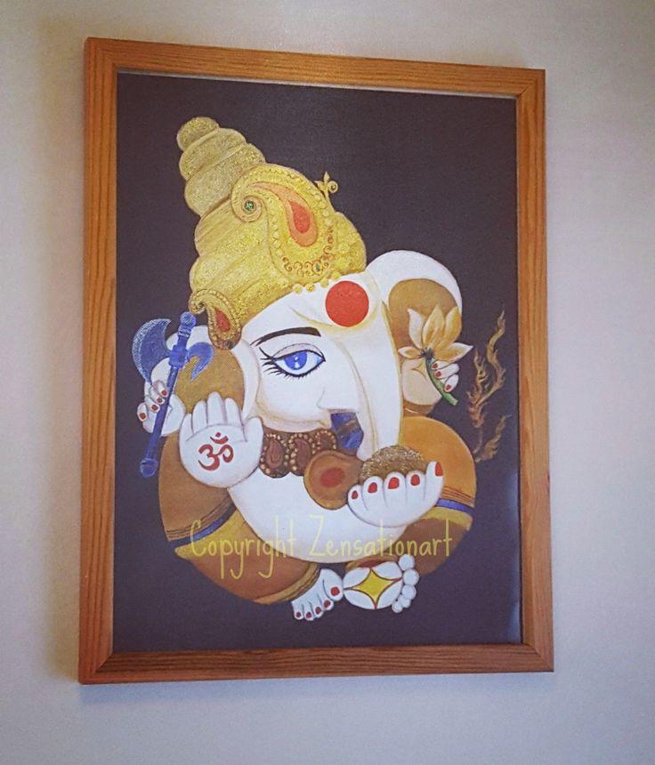 Fine art Giclee prints Ganesha Lord Of Fortune Hindu God