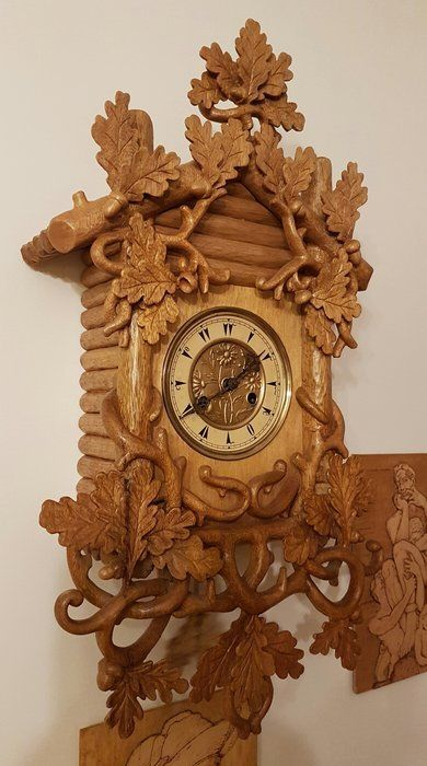 Black Forest Clock Wood Carving In 2018 Pinterest Wood Clock