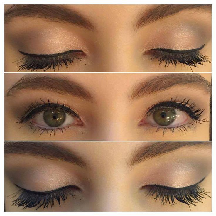 Detalhe dos olhos usando Asa de borboleta cor pêssego do Koloss