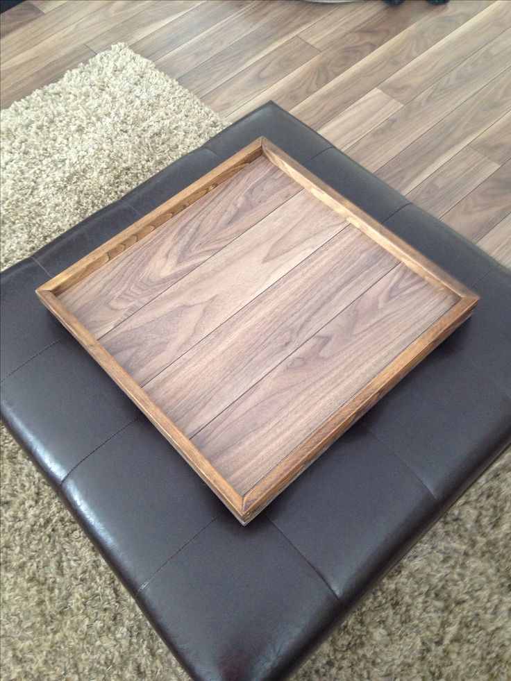 Ottoman tray made from left over laminate floor!