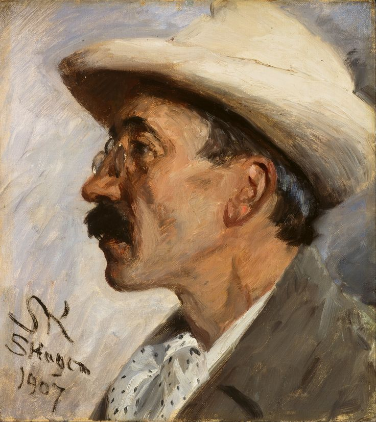 KRØYER, Peder Severin - Portrait of Julius Paulsen (1907) 31 × 35 cm (oil on canvas) (Skagens Museum, Denmark)