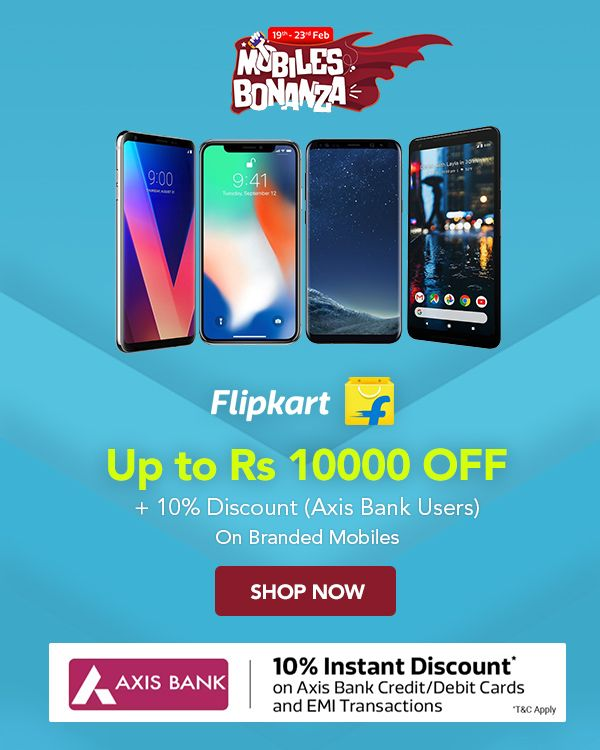 Flipkart Mobile Bonanza is ON! Find great deals on mobiles