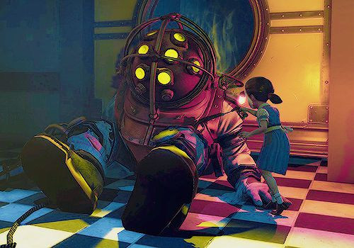 big daddy.. maybe just the mask & drill? best part of the game #bioshock #bigdaddy #littlesisters