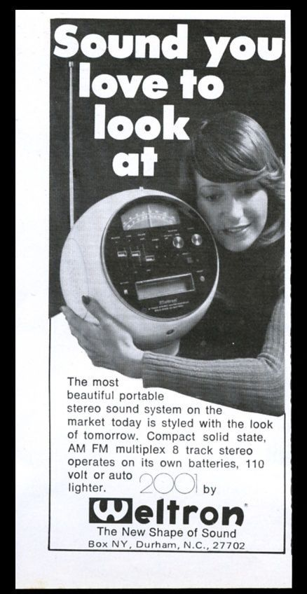 1972 Weltron 2001 AM FM Stereo 8 Track Photo Vintage Print AD | eBay