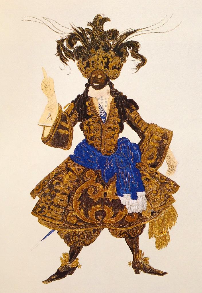Leon Bakst. Costume of the Negro. Sketch. Леон Бакст. Эскиз костюма негра.
