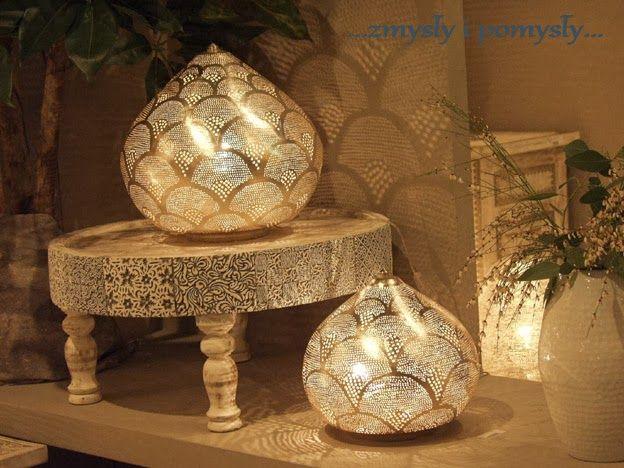 .zmysły i pomysły: Ambiente i lampy zaczarowane....