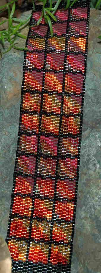 Peyote 2-drop band bracelet