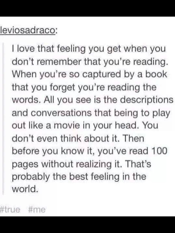 Love that feeling when you read
