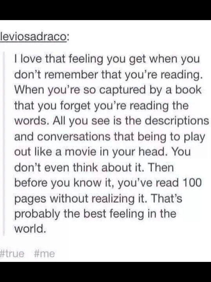 Love that feeling when you read