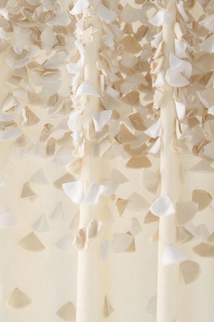 Anthropologie tender falls shower curtain - Tender Falls Shower Curtain Anthropologie Com Basically Rough Cut Circles Of Greige Fabric