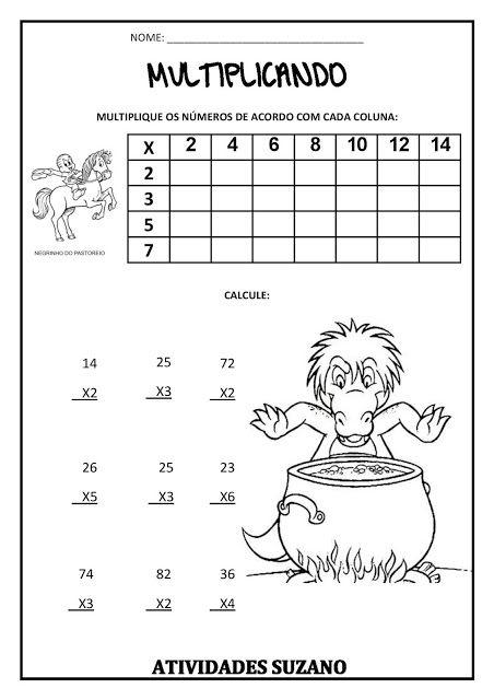 Matemática com os personagens folclóricos - Atividades Adriana