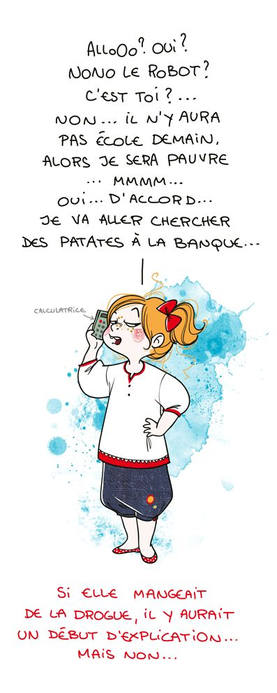 I don't know what she's saying, but I assume it's sassy. Nathalie Jomard, sur son blog Grumeautique.