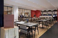 Restaurant: Le Balthazar Niveau-1 du Bon Marché et de La Grande Epicerie Du lundi au samedi, de 10h30 à 20h30. Renseignements au 01 71 37 85 27.