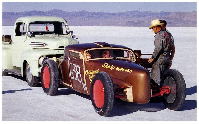 Art Chrisman 1953 | Photographer: Tom Medley.Art Chrisman, Salts Flats, Land Speed, Racing Cars, Vintage Racing, Flats Racing, Hot Rods, Chrisman 1953, Bonneville Salts