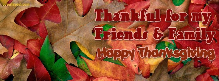 Thankful For My Family Happy Thanksgiving Facebook Cover CoverLayout.com