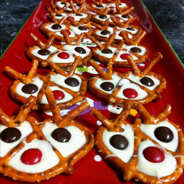 Reindeer pretzels!