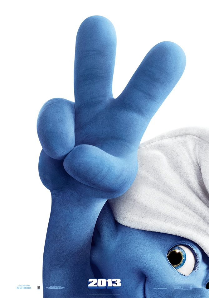 Taking Cayden to see the Smurf movie today!