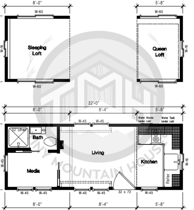 Tiny House Floor Plans Trailer 501 best tiny house ground floor bedroom images on pinterest