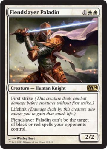 249 best magic the gathering images on pinterest magic cards mtg magic the gathering 4 fiendslayer paladin magic 2014 color white type creature human knight rarity r cost language english first strike ccuart Gallery