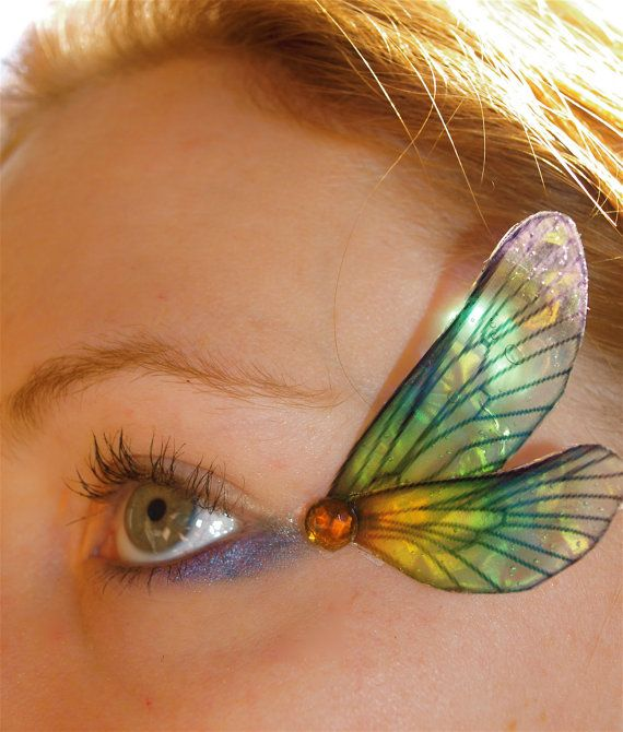 Fairy Wing Eye Decorations Dragonfly rainbow by magpiesmasquerie