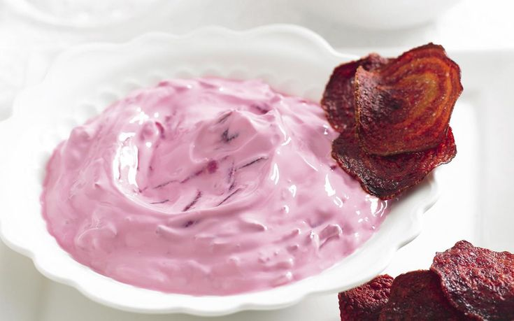 Discover the amazing versatility of beetroot in this quick and easy snack, using just 4 ingredients. Scoop up dollops of the smooth, creamy beetroot tzatziki dip with your homemade fried crunchy beetroot crisps.