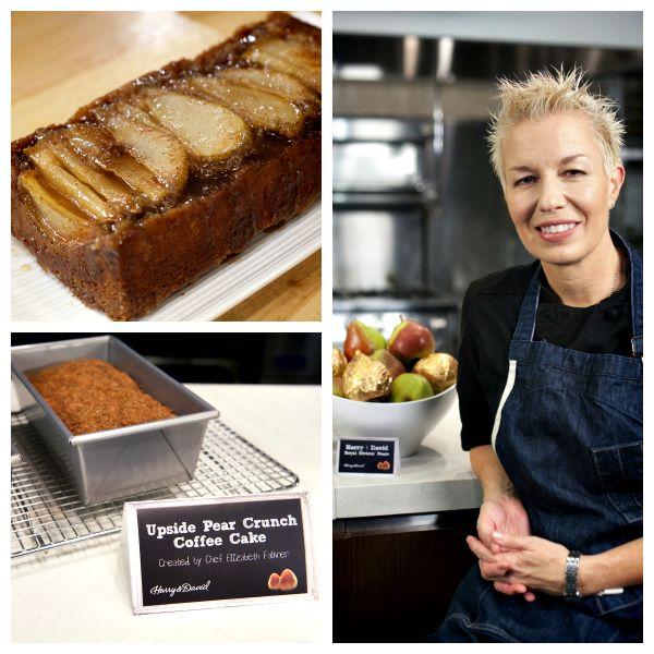 Recipe: Upside Pear Crunch Coffee Cake by Chef Elizabeth Falkner