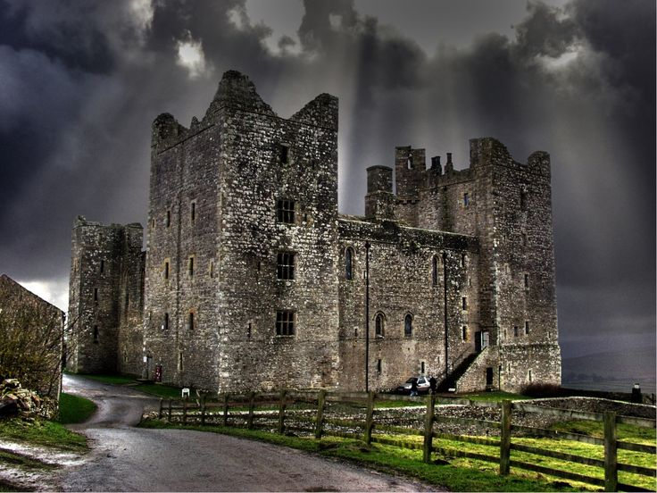 """""""Bolton Castle, after the storm."""" by Melvyn Harland at PicturesofEngland.com"""