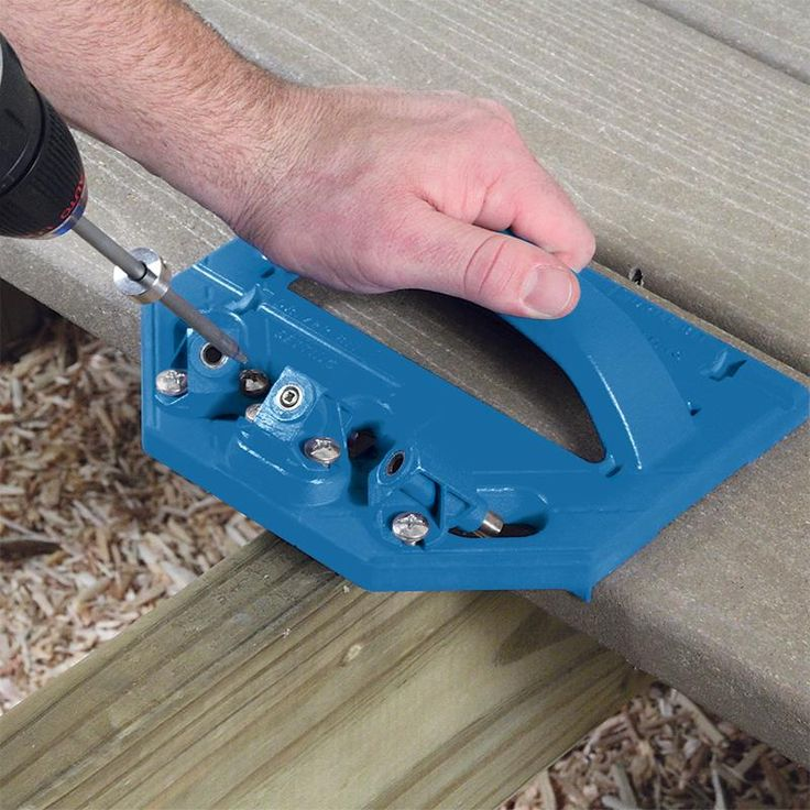The Kreg Deck Jig creates an incredibly strong wood-to-wood bond through precisely-placed self-tapping screws.
