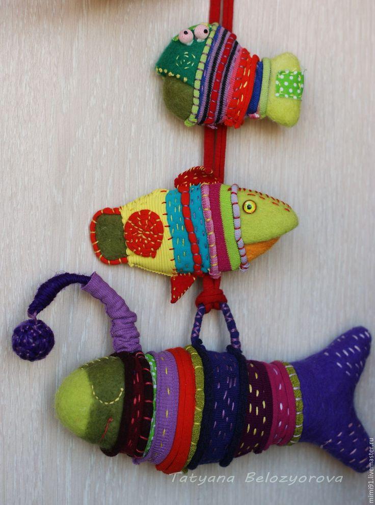 Купить Боция-клоун креативная брошь - комбинированный, рыба, брошь, брошь-рыба, смешная рыба