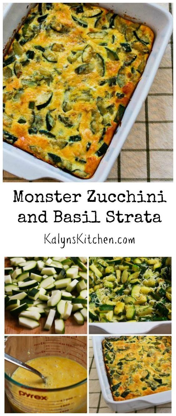 ... those monster-sized ones, this Monster Zucchini and Basil Strata