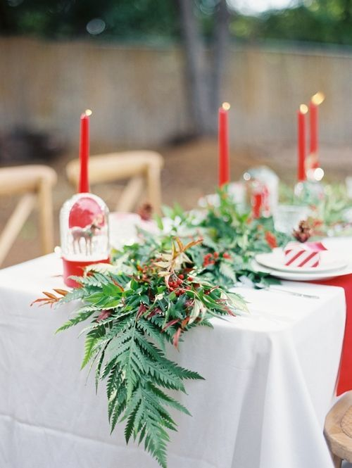 Revel al fresco christmas table