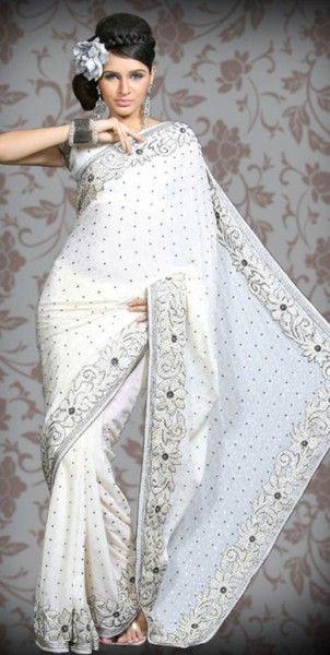 white saree devilangel511