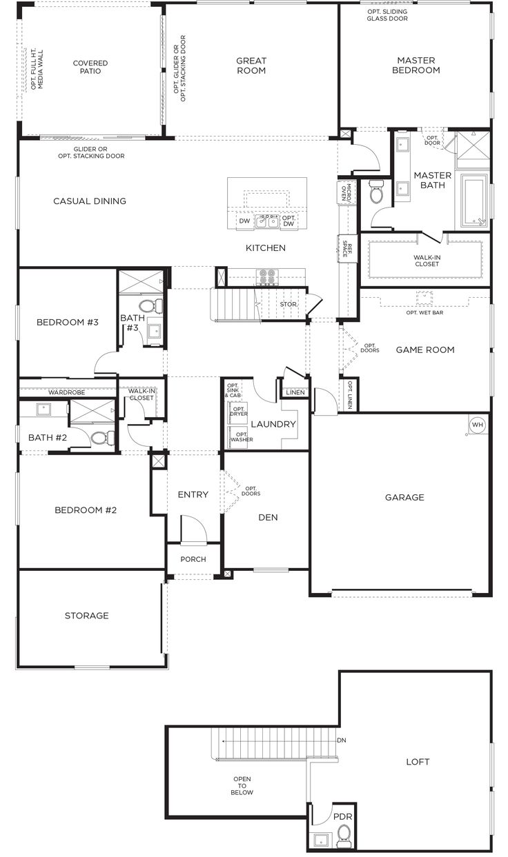 162 best house plans images on pinterest house floor plans chop off a lot of the first floor encanto plan 2xb