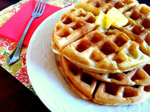 These Homemade Belgian Waffles are a great transitional food to get away from processed, boxed waffles. One of the biggest benefits of avoiding pre-packaged foods is that you have control over the quality of the ingredients.