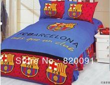 4 или 5 шт. футбольного клуба барселона знак печатных одеяла постельные принадлежности пододеяльник утешитель комплект твин односпальная кровать - синий - красный(China (Mainland))