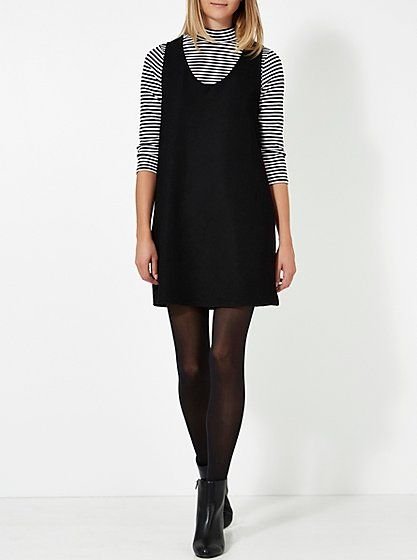 Ribbed Dress and Stripe Polo Neck Top Set, read reviews and buy online at George at ASDA. Shop from our latest range in Women. Styling yourself is simple as ...