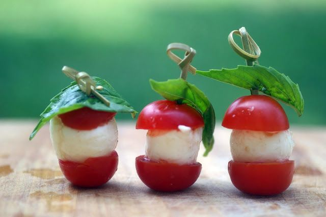 Need to try these! Caprese Bites