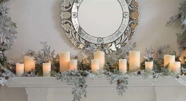 christmas decorations elegant fire - Google Search