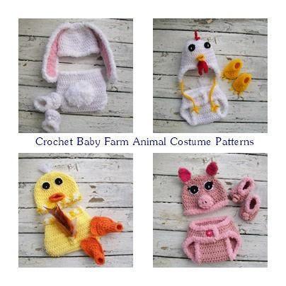 Crochet Baby Patterns Newborn Crochet Baby Animal Costumes