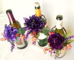 wine bottle centerpieces - Google Search