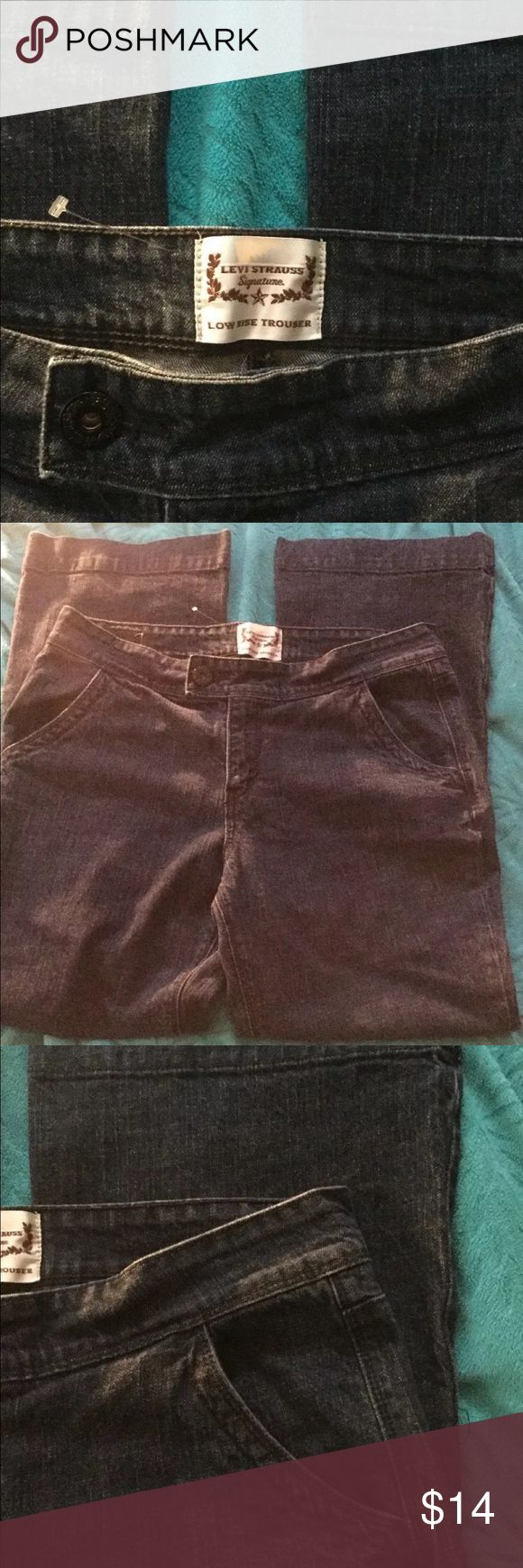 Low Rise Trouser Leg Stretch Jeans 36W 31L Levi's Ladies Size 14 Low Rise Trouser Leg Stretch Jeans 36W 31L Levi's Jeans Flare & Wide Leg