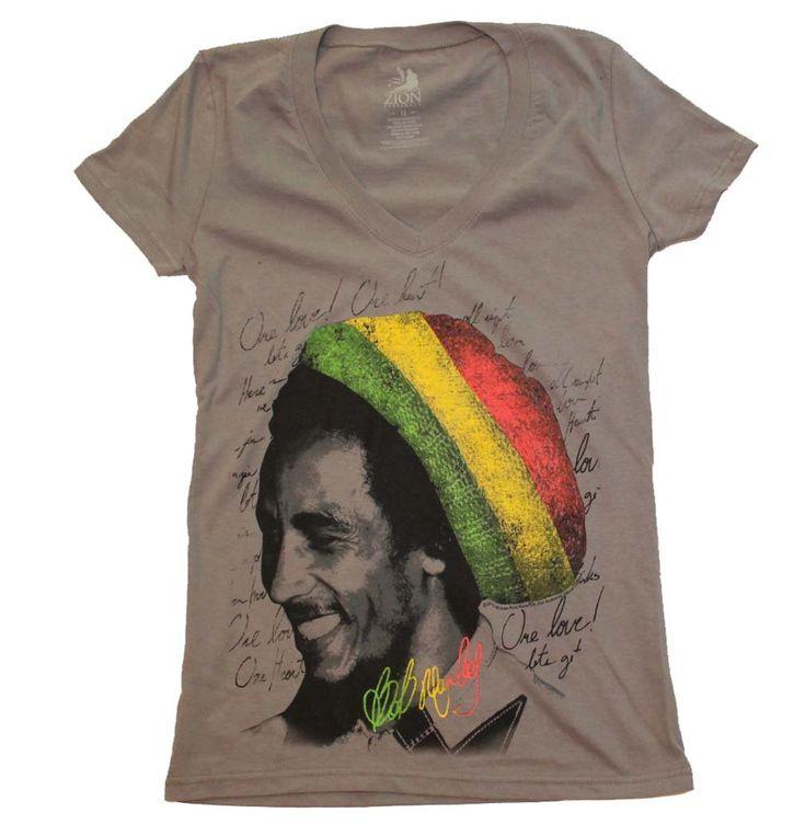 Bob Marley Rasta Tam V-Neck Junior's Tee