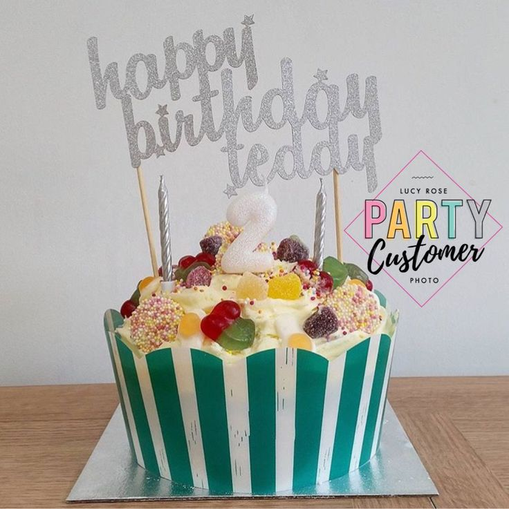 Personalised Happy Birthday Cake Topper (Curvy Font) in