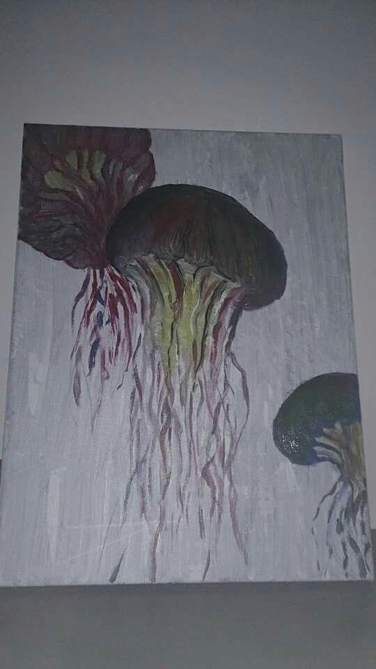 Schilderij kwallen