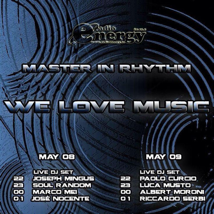 Tonight on air with Master in Rhythm on Radio Energy