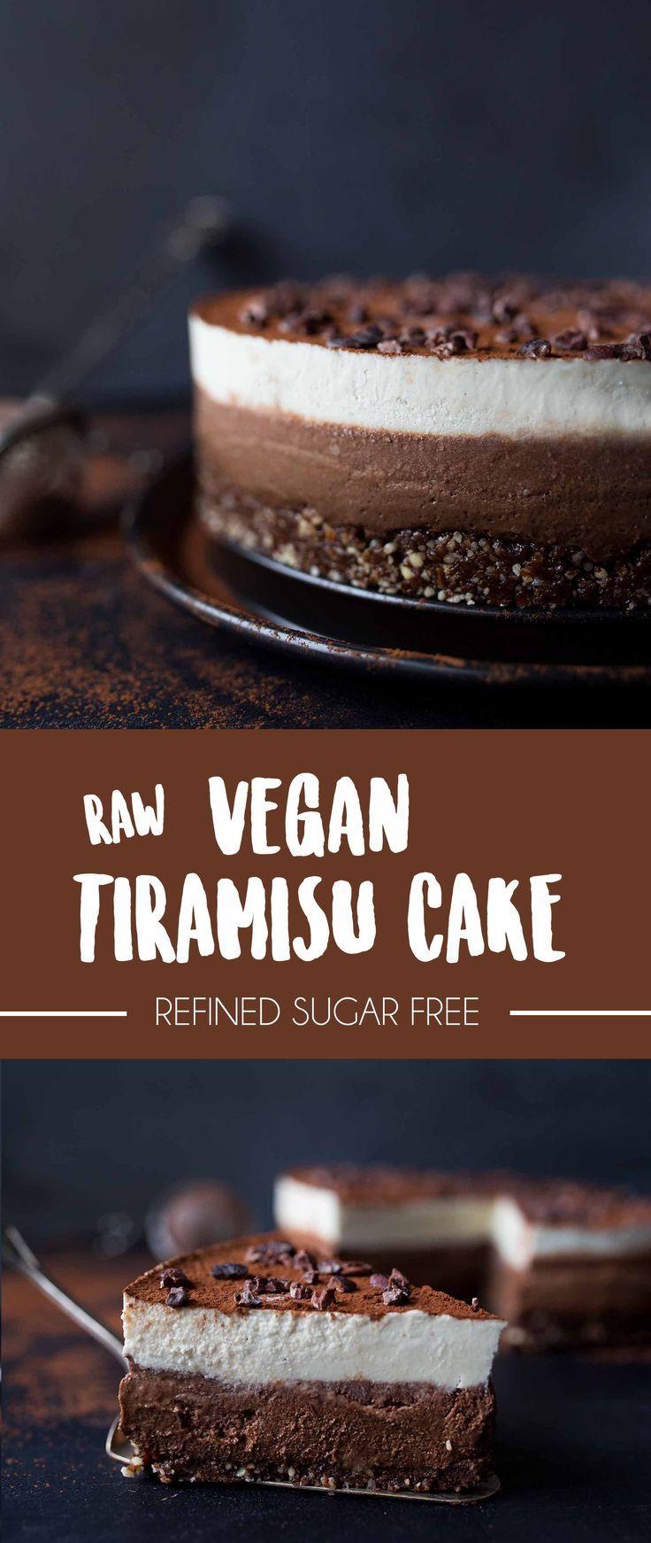 Raw Vegan Tiramisu Cake | No refined sugar | Italian friends approved!