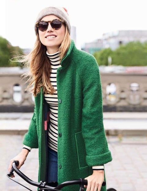 Bridget Boucle Coat WE574 Coats at Boden